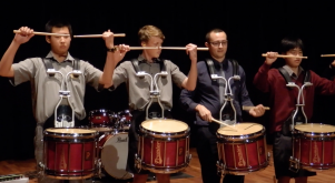 HBHS Drumline at the Waikato Itinerant Music Festival